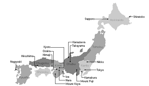 Japan Attraction Areas