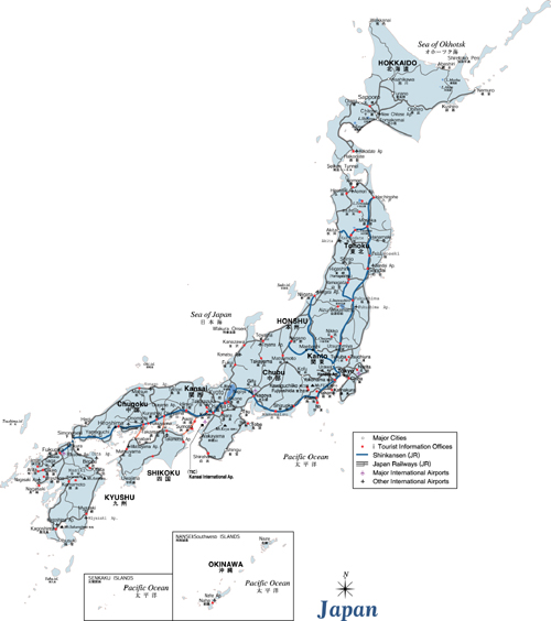 japan map Travel To Japan   Top 10 Best Places