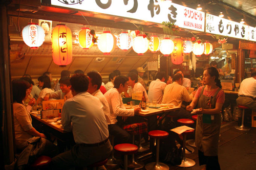 people enjoying friday night at ton ton yakitori bar ginza Travel To Tokyo   Top 10 Best Places