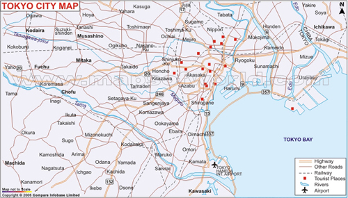 tokyo map Travel To Tokyo   Top 10 Best Places