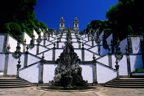 baroque staircase of religious sanctuary of bom jesus do monte Travel To Portugal   Top 10 Best Places