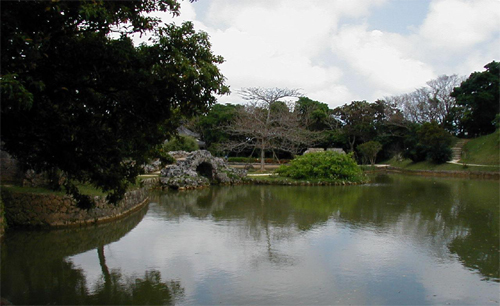 beautiful view at Shikinaen Garden, Okinawa Island