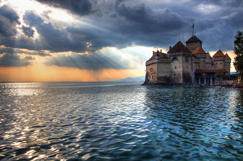 chateau de chillon on lake geneva lac leman Travel To Switzerland   Top 10 Best Places