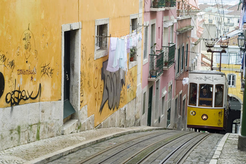 elevador da bica furniculars in lisbon is the city highlight that you must not miss Travel To Portugal   Top 10 Best Places