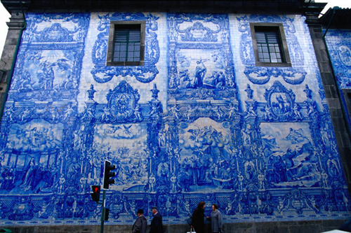 exterior detail of the tiled church capela das almas de santa catarina Travel To Portugal   Top 10 Best Places