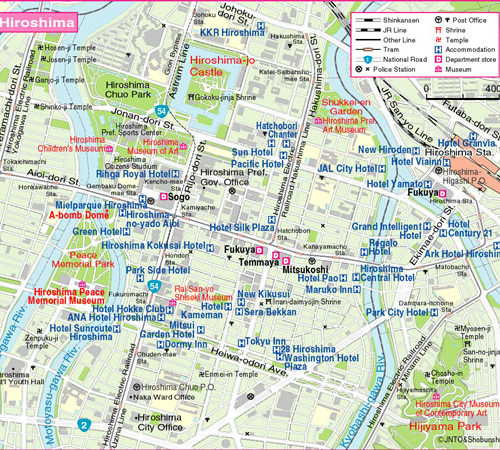 hiroshima map Travel To Hiroshima   Top 5 Best Places