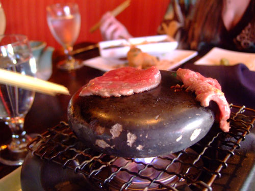 Kobe Beef Cooked on a Hot Stone, it's a world-renowned cuisine from Kobe, Japan