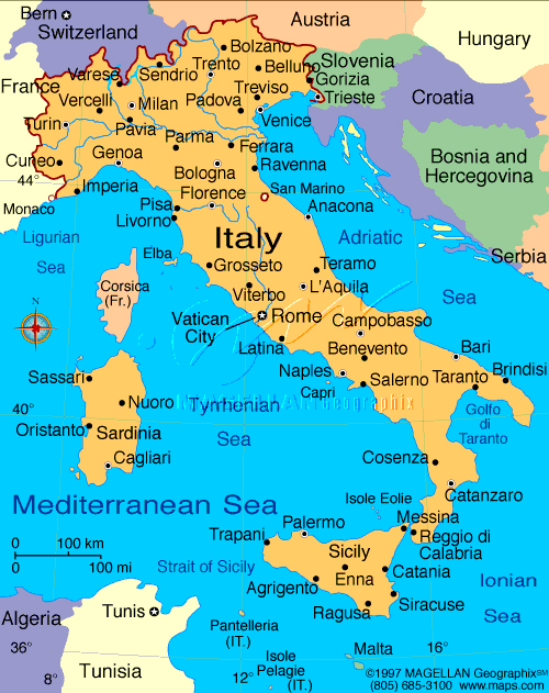 map of italy Travel To Italy   Top 10 Best Places