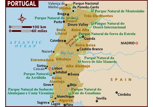 map of portugal attractions Travel To Portugal   Top 10 Best Places