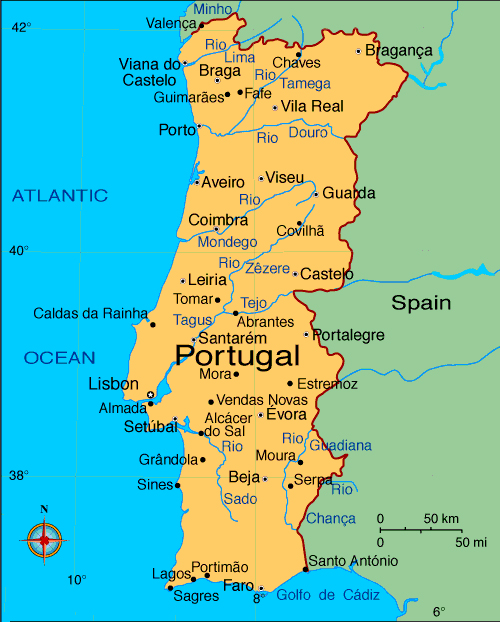 map of portugal Travel To Portugal   Top 10 Best Places