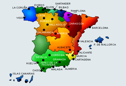 map of Spain - Attractions
