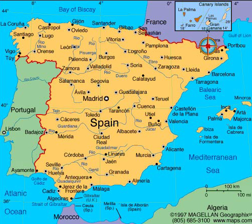 map of spain Travel To Spain   Top 10 Best Places