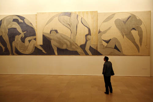 Matisse's work display in permanent exhibition in Musee d'Art Moderne de la Ville de Paris.