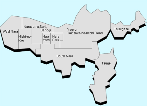 nara map Travel To Nara   Top 8 Best Places