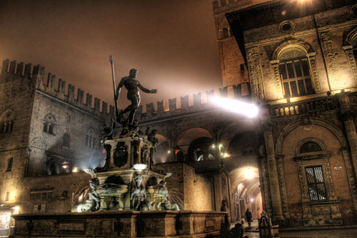 Neptune Fountain by Giambologna is the heart of Piazza del Nettuno, Bologna, as well as one of the finest fountains of the 16th century.