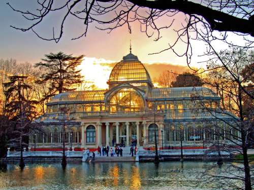 Palacio de Cristal in Parque del Buen Retiro (park of the pleasant retreat, Madrid, Spain, is one of the world's must-see sites before you die.