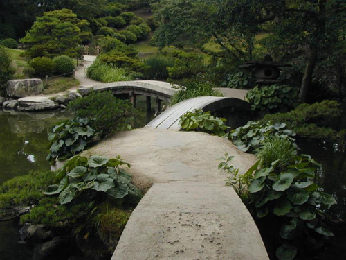 Shukkeien path and bridges