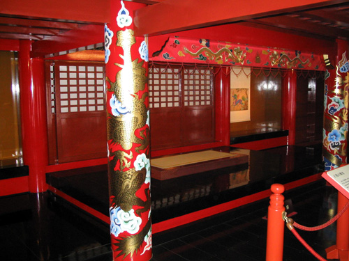 splendid design inside the Shuri Castle