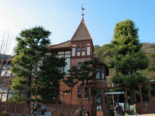 the German Weathercock House, one of the many foreign residences of the Kitano area of Kobe, Japan