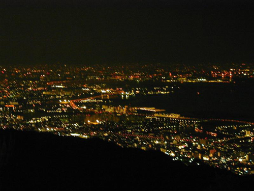 the mesmerizing night view of Osaka Bay from Rokkosan (Mt. Rokko), Kobe