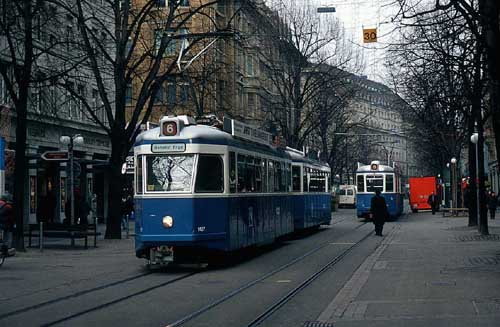 background. Trams network