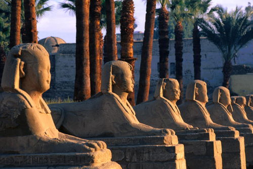 avenue of the sphinxes at luxor temple Travel To Egypt   Top 10 Best Places