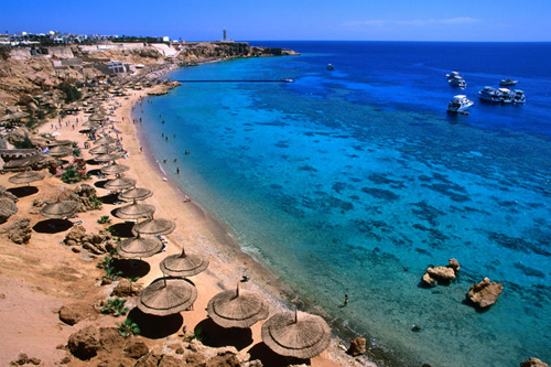 blue waters and coral reefs of ras um sid dive spot and resort holiday location Travel To Egypt   Top 10 Best Places