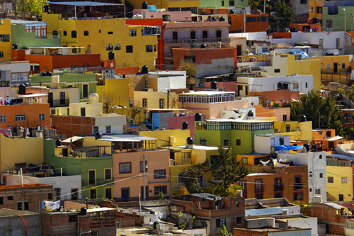 Colourful Mexican house facades is nothing but picture perfect