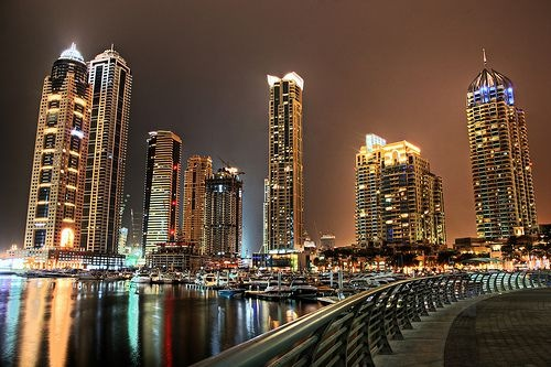 Dubai, the city of gold, looks charming at night