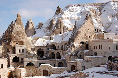 fairy chimney hotel in goreme ll in the region of cappadocia capadokya central turkey the setting for one of the strangest landscapes in the world Travel To Turkey   Top 10 Best Places
