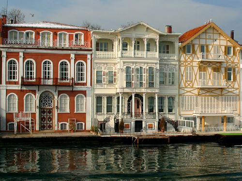 Fancy Bosporus Houses by the river are where fishers stay