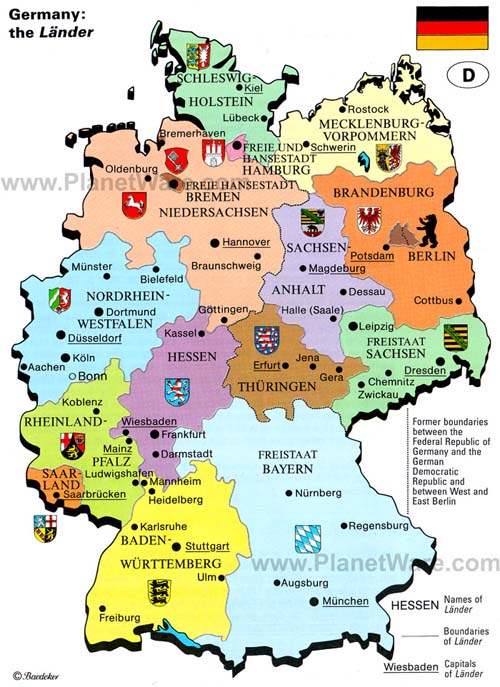 Germany map - attractions