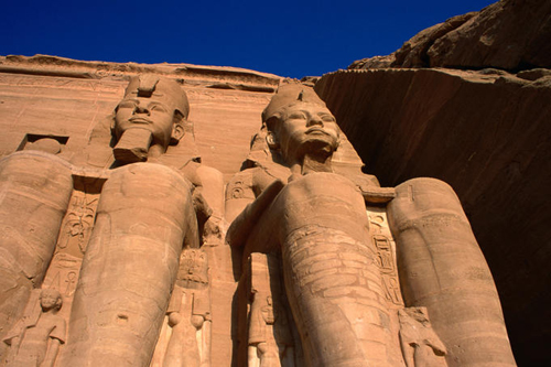 giant statues at temple complex at abu simbel Travel To Egypt   Top 10 Best Places