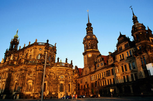 hofkirche left and rezidenzschloss at dusk from theaterplatz Travel To Germany   Top 10 Best Places