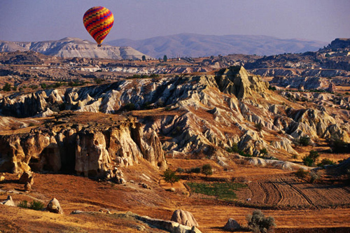 landscape of cappadocia seen from hot air balloon Travel To Turkey   Top 10 Best Places