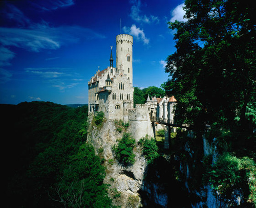 lichtenstein castle perched on a steep rock outcrop near stuttgart the castle was built from 1840 to 1841 by duke wihelm of urach Travel To Germany   Top 10 Best Places