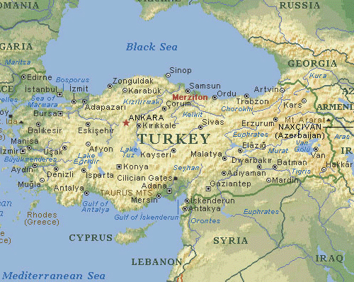 map of turkey Travel To Turkey   Top 10 Best Places