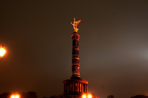 The Statue of Victoria is an addition to the Siegessaule, the Berlin Victory Column, to commemorate Prussian victories in the so-called unification wars