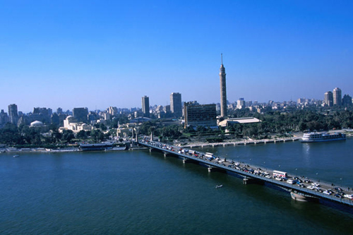 view of modern cairo and vehicular traffic crossing the nile river Travel To Egypt   Top 10 Best Places