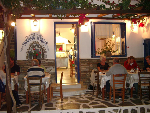 Visit a taverna for an authentic Greek dining experience