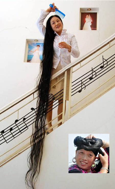 dai yue qin longest hair
