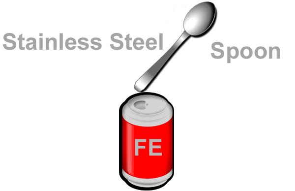 Spoon open soda can
