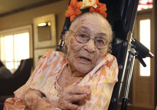 Gertrude Weaver oldest living American